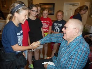 Carthel visits with Southside students